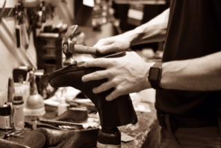 Shoe repair service in the heel bar carndonagh