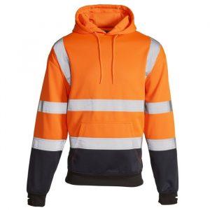 Supertouch orange hi vis hoodie