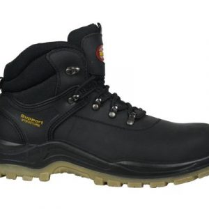 support black lace safety boots